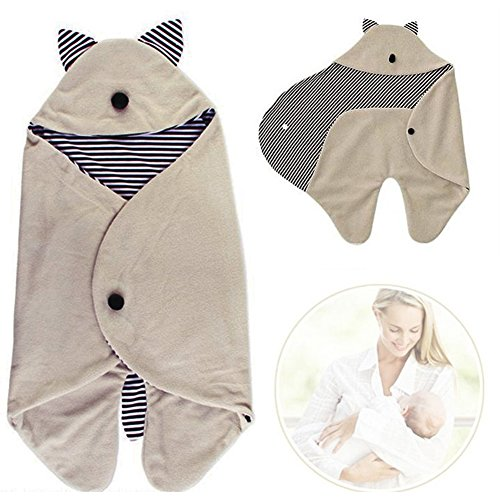 (Ainstsk Baby Pucktuch, Baby Neugeborene Puckdecke mit Kapuze, Schlafsack, niedliche Baumwolle, für 0-8 Monate Baby)