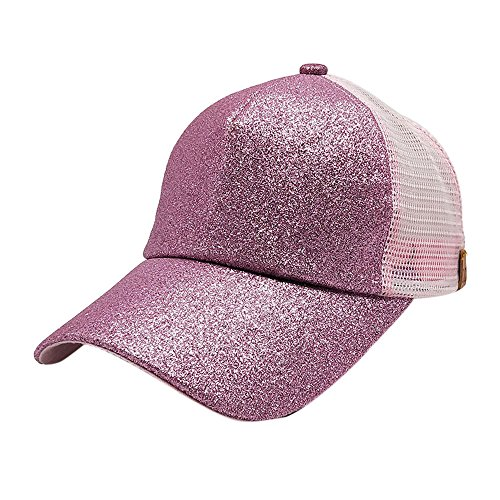 95777fa2 Women's Ponytail Baseball Caps Sequins Shiny Messy Bun Snapback Summer Cap  Adjustable Mesh Hats For Men Women Outdoor Running Cotton Snapback Hat  Casual Hip ...