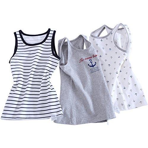 Xiangwu Baby Jungen Tank Top Shirts Muscle Tee Unterhemd ärmellos Rundhalsausschnitt Jersey Tank - Grau - 4 Jahre -