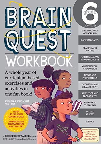 Brain Quest Workbook: Grade 6 (Workbook 4 Brain Quest Grade)