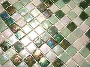 fliesentopshop glasmosaik fliesen mosaik perlumutt effekt wei gr n perlmutt bad pool dusche. Black Bedroom Furniture Sets. Home Design Ideas