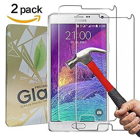 [2 Pack] Verre Trempé Galaxy Note 4,GYOYO Protection en Verre Trempé Note 4 protecteur d