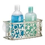 mDesign Duschkorb zum Hängen aus Metall – die ideale Duschablage für Shampoo, Schwämme, Rasierer und sonstiges Duschzubehör – ohne Bohren zu montieren