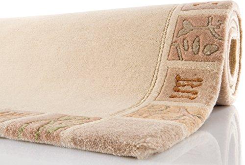 TEPGO Nepal Teppich, Ghorka exclusive, beige, 801, reine Schurwolle, handgeknüpft