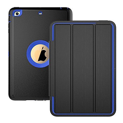 iPad-Mini-3-caso-iPad-Mini-2-Caso-iPad-Mini-1-2-3-caso-tres-capa-cada-proteccin-resistente-protectora-resistente-ipad-funda-con-tapa-magntica-Smart-Auto-encendidoapagado-para-Apple-iPad-Mini-123-Black