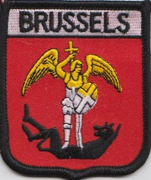 Belgio Bruxelles Bandiera ricamato Patch (Belgio Flag Patch)