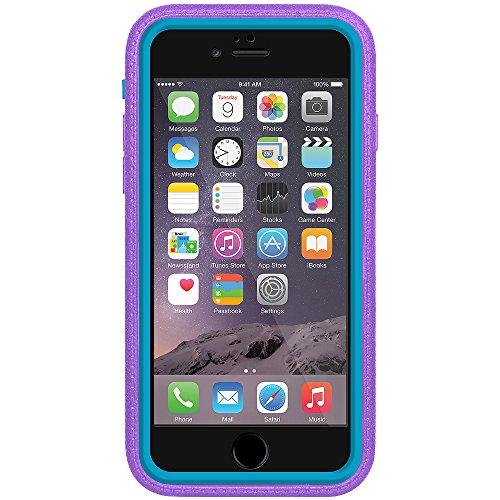 Amzer Crusta edge2edge Shell Housse Coque Étui robuste avec verre trempé et support pour iPhone 6Noir/Gris Espace _ P Violet/Bleu