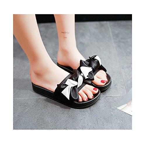 Sandales femmes plate décoration papillon semelle confortable antidérapage Blanc
