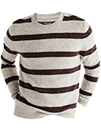Abercrombie - Homme - STRIPED WOOL SWEATER Pull Sweatshirt - Manche Longue