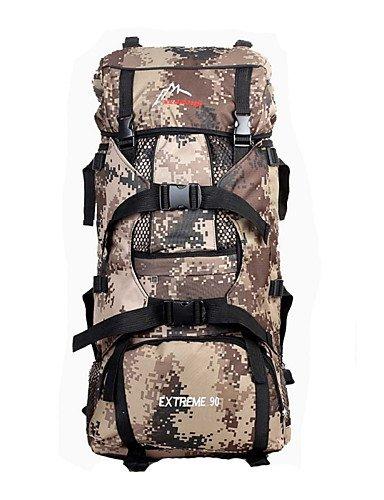 ZQ 70L L Tourenrucksäcke/Rucksack Camping & Wandern / Klettern Draußen Feuchtigkeitsundurchlässig / tragbar / Multifunktions Tarnfarben Nylon jungle camouflage
