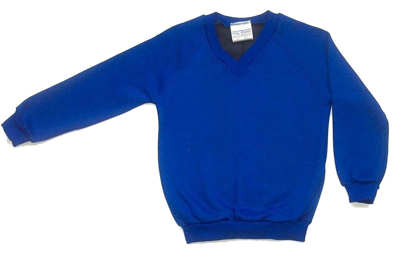 Skooleez School Uniform Fleece Sweat V Neck Jumper: Amazon.co.uk ...