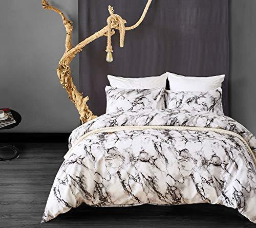 Bettbezug Marmor Kinder Bettwäsche Set Einzelbett Drucken Polyester 1 Bettbezug 135x200 mit 1 Kopfkissenbezug 80x80 ohne Füllung