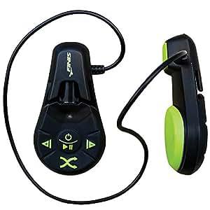 FINIS Duo - Lettore MP3 subacqueo a conduzione ossea, waterproof fino a 3 metri, 4GB di memoria, Nero/Verde Lime