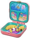 Polly Pocket GDK77 - Verborgene Schätze Meerjungfrauenbucht Schatulle, Puppen Spiezeug ab 4 Jahren