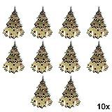 Tarjeta de Navidad con el nombre de la mesa, diseño de Papá Noel para decoración de copas de vino 10 piezas #06