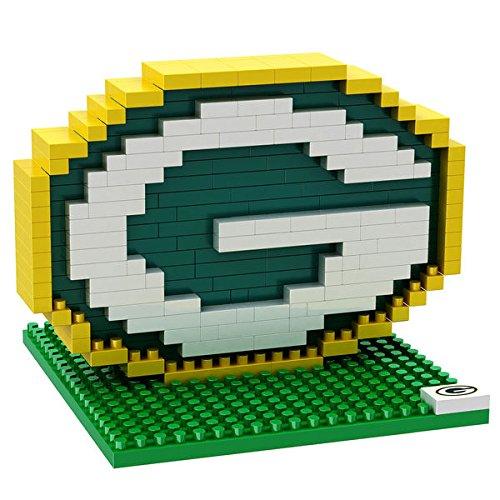 Green Bay Packers NFL Football Team 3D BRXLZ LOGO Puzzle