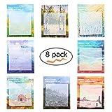 Super Sticky Notes, autocollants, peinture Post Notes , autoadhésifs amovible Sticky Notes -8blocs par lot-30feuilles par bloc-Lot de 8Différentes formes Inside-75mm X 75mm