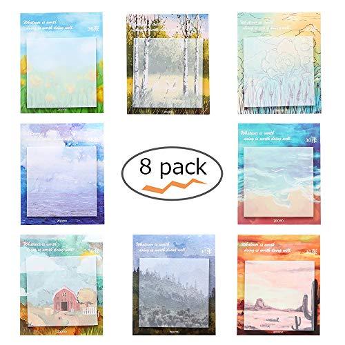 Super Sticky notes, autoadesive pittura , post note autoadesive Sticky notes -8rimovibili per confezione–30fogli per blocco–Confezione da 8diverse forme inside-75mm x 75mm