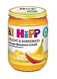 HiPP Mango-Bananen-Grieß, 6er Pack (6 x 190 g)