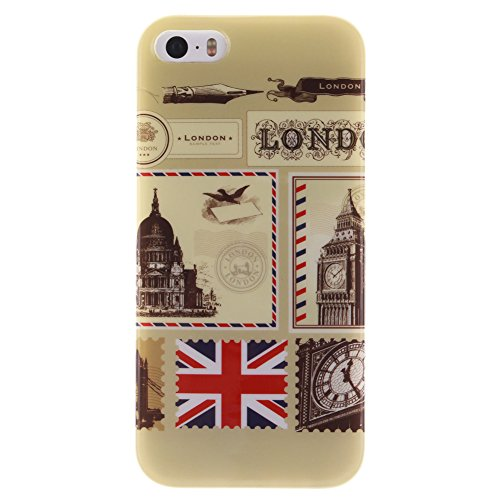 Custodia per iPhone 6 / 6S, Pridot TPU Silicone Graffiti Stile Case Cover Protettiva con Shock Assorbimento Bumper - La Scienza Frankenstein London Style