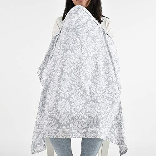 Fliyeong Serviette d'allaitement douce et confortable Multi-usage en coton Matériau Protection de la vie privée Couverture d'allaitement en plein air 1 Pcs