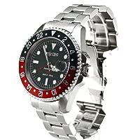 Nautec No Limit Deep Sea DS GMT/STRDBK - Reloj de caballero automático, correa de acero inoxidable color plata de Nautec No Limit
