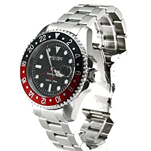 Nautec No Limit Deep Sea DS GMT/STRDBK - Reloj de caballero automático, correa de acero inoxidable color plata de Nautec No Limit