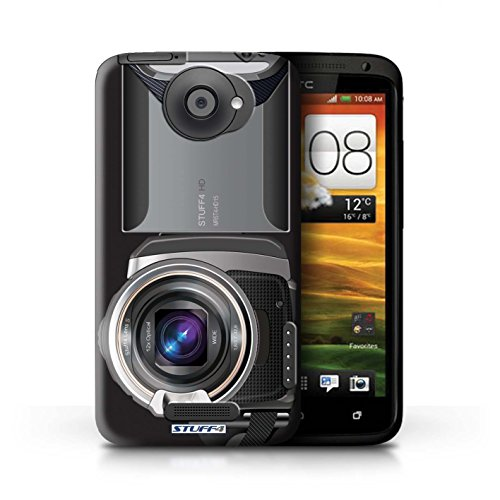 Kobalt® Imprimé Etui / Coque pour HTC One X / Sportif conception / Série Appareil Photo Caméscope