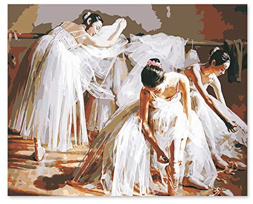 Teile Kostüm Einer Ballerina - Csyhl Malen nach Zahlen Kunst Malen nach Zahlen DIY Finishing Kostüme, Vorbereitung für Mädchen, Ballerinas, Tanz, Dekoration Training