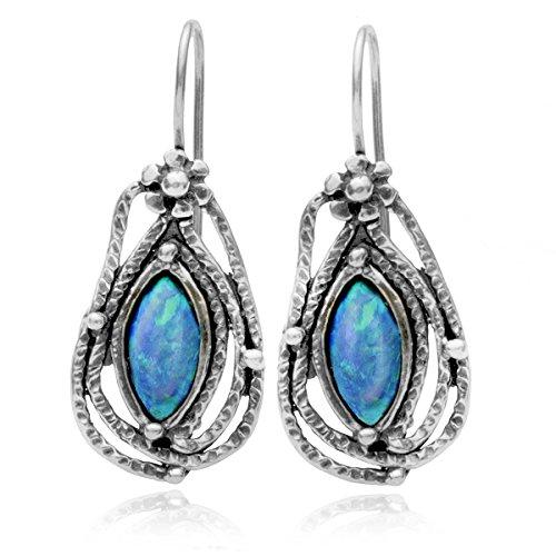 ohrringe-tropfenform-925-sterling-silber-mit-marquiseschliff-created-blue-fire-opale-und-draht-haken