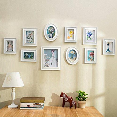 Home @ Wall Bilderrahmen Fotowand im europäischen Stil Wohnzimmer Schlafzimmer Esszimmer 10 kreative Fotowand Kombination einfache moderne Fotowand ( Farbe : B )