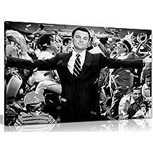 Lobo de Wall Street Leonardo Dicaprio lienzo pared Art imagen impresión, A1 76x51 cm (30x20in)