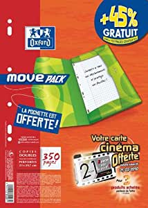 Super Conquérant - SUPER CONQUERANT MOVE PACK copie double, format A4,Séyès - pour le marché: F -quadrillé, 90 g/m2 Optik Paper, perforation Euro, Pack promotionnel: 45% GRATUIT +