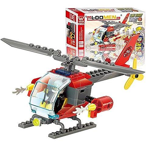 MMRM 89 PC que ensamblan los juguetes educativos del cabrito de los bloques huecos del helicóptero de la lucha contra el fuego