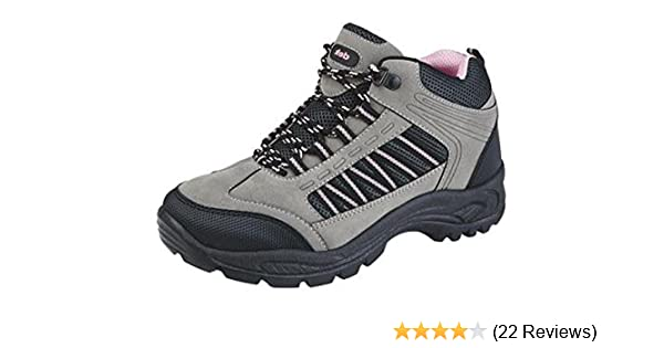 MX2 Ladies Hiking Boots New Girls Lightweight Adjustable Walking Hiking Trekking Trail Rambling Ankle Boots Shoes Size 3 4 5 6 7 8