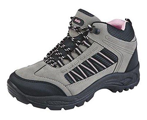 47845fbffc2 New Dek Ladies Womens Grey Pink Black Hiking Walk Trek Trail Boots Sizes 3  to 8