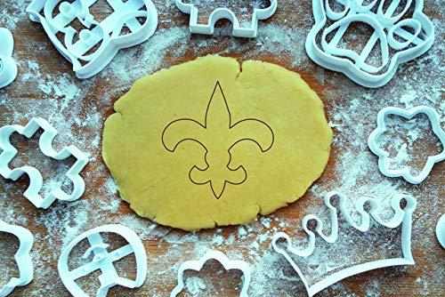 Fleur de Lis Lilie Ausstechform 6cm Ausstecher Lilienblume Lilienblüte Saints Keksausstecher Cookie Cutter Backen Fondant Plätzchen Lis-cookie