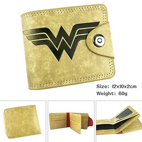 Paquete de Tarjeta Monedero Anis Unisex SWVV para Hombre y Mujer Wonder Woman Short Wallet