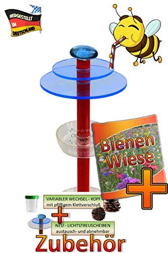 ÖLBAUM 6X Tränke + Streulicht für Lotus Bienenhotel, Premium für Insektenhotels, mit großem Zubehörset + Anleitung