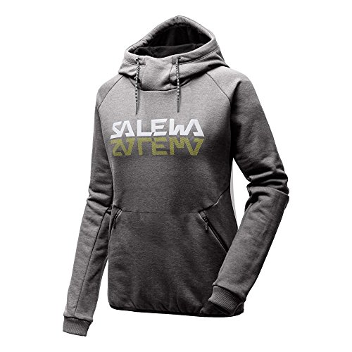 Salewa reflection dry hoodie felpa con cappuccio donna grigio 40