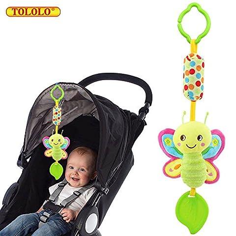 Baby Kleinkind Spielzeug Stoffspielzeug Rassel Beißring Schöne Bunte Farben für Kinderwagen ab 0