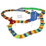 HZY Bambino pista giocattolo con auto elettronica petiot, l'assemblaggio variabili della pista, il giocattolo del LES simulazione di scenario per i bambini (2)
