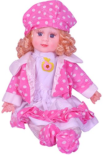 Richy Toys Musical Doll Sings Poems Stuffed Plush Soft Toy Kids Girls Birthday Love Gift 45 CM (Random Color)
