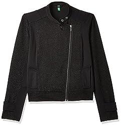 United Colors of Benetton Womens Sweatshirt (17A3CH5E1086I_Black_L)