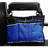RANRANHOME Rollstuhlfahrer Bag Side Pouch Korb Aufbewahrungstaschen für Ihre Mobilitätsgeräte. Powered oder Elektro-Rollstühle (2 Stück),Blue