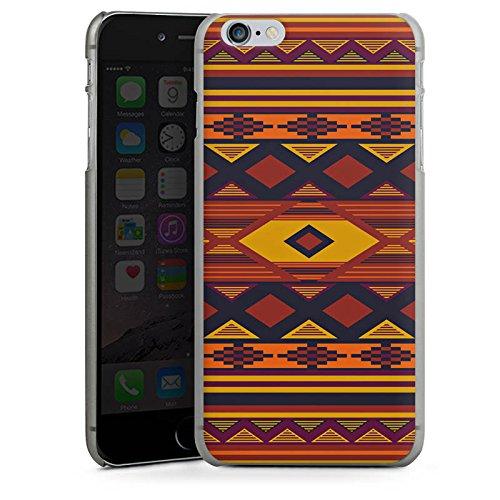 Apple iPhone X Silikon Hülle Case Schutzhülle Ethno Indianer Azteken Muster Hard Case anthrazit-klar
