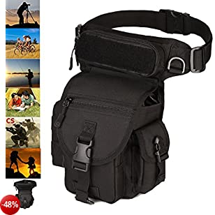Larkoo Outdoor Gear Military Tactical Drop Leg panel Utility della coscia gamba marsupio moto Bike ciclismo equitazione Outdoor Thermite Versipack Satchel per 20,1 cm tablet PC
