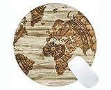 Tapis de Souris Rond personnalisé sur Mesure Mousepad, Carte du Monde Carte de...