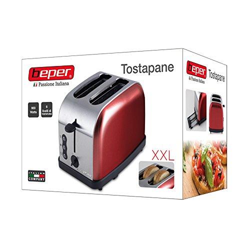Beper-90850-Tostadora-900-W-color-rojo