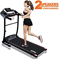 BTM Electric Treadmill Folding │USB & Speakers │12KM/H │Motorized Running Jogging Walking Machine for Home Use │Digital Control │99% Pre-assembled │15 Pre-Programs │2 Years Guarantee